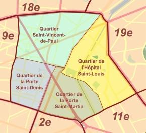 Quartiers «Paris 10e arrondissement - Quartiers» par Starus