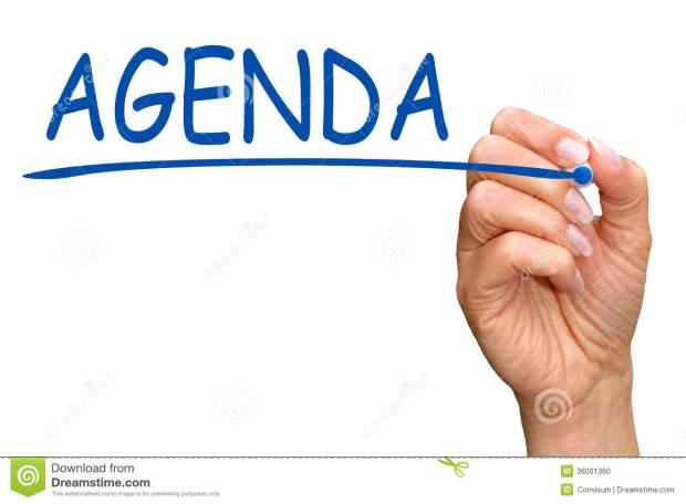 hand-writing-word-agenda-woman-white-screen-copy-space-36001360