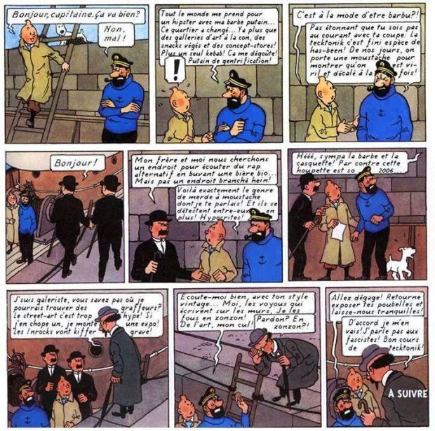 Tintin ,Haddock, Tournesol et la