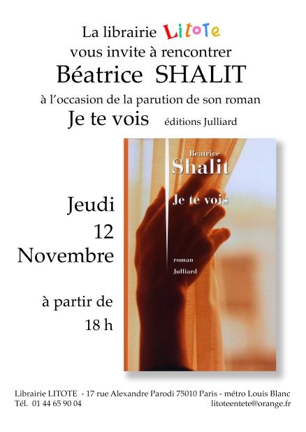 Affiche Béatrice Shalit