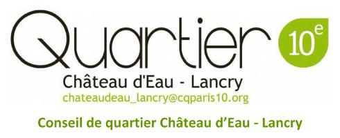 Conseil quartier Château d'eau Lancry